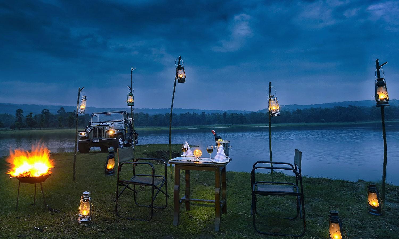 Dinning at Night, Chitvan Jungle lodge