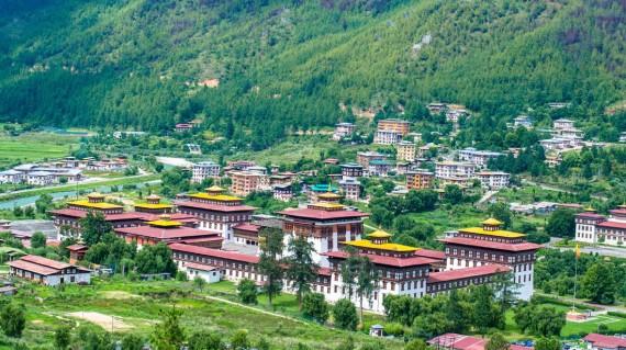 aerial-view-of-ddzong-thimphu