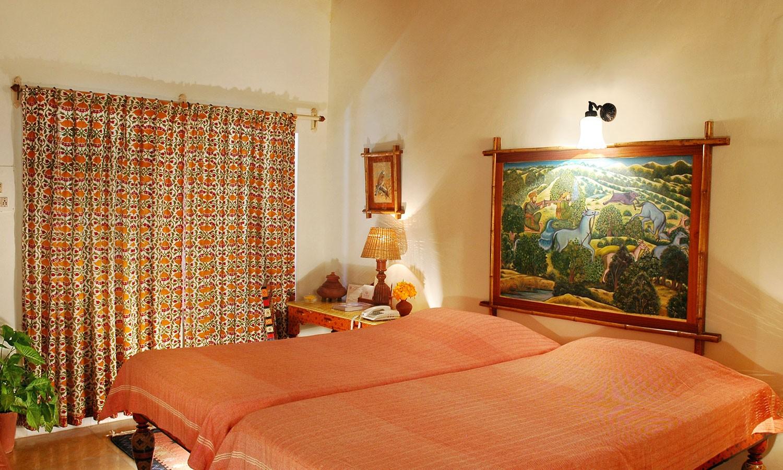 Twin Bedroom, Maharani Bagh Orchard Retreat Ranakpur