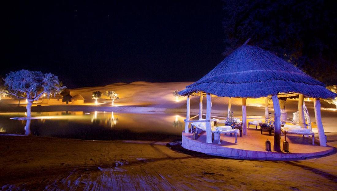 Dinner at dunes, Khimsar