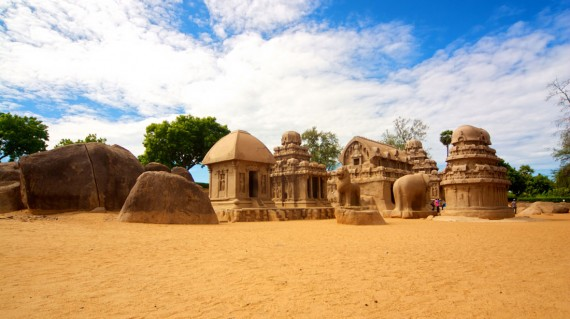 five-rathas-archaeological-site-mahabalipuram