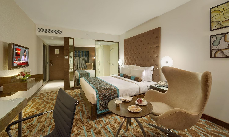 Double Bedroom, The Pride Hotel Bangalore