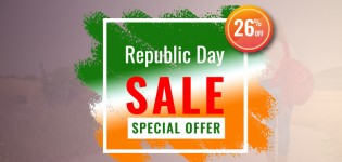 Flat 26 % Discount-Republic Day special